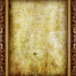 Vintage frame on old grunge wall — Stock Photo