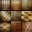 Gold metal grid set — Stock Photo #34023673