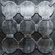 Grunge iron plate — Stock Photo
