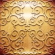 Carved wooden ornament — Foto Stock