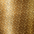 Gold metal plate with classic ornament — Stockfoto