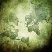 Grunge wall with world map — Stock Photo