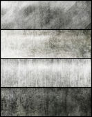 Banners set of metal texture — Stock Photo