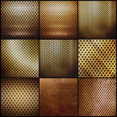 Gold metal grid set — Stock Photo