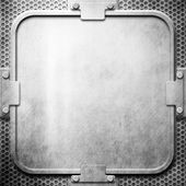 Iron plate (metal construction) — Stock Photo