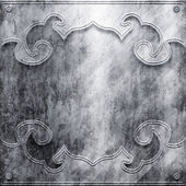 Silver metal plate — Stock Photo