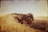 Rocky landscape. Vintage picture — Stock Photo