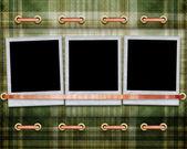 织物背景相框 — 图库照片