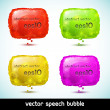 Abstract colorful speech bubble — Stock Vector