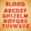 Blood alphabet — Stock Vector #34065267
