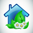 Ecological house — Stock Vector