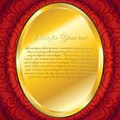 Zlatá deska na červené luboš dvořák — Stock vektor