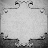 Metal grunge plate — Vector de stock