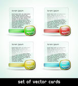 Vector cards (set of templates) — Stock Vector