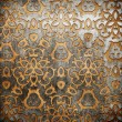 ストック写真: Metal ornament on old wooden background
