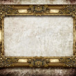 Golden frame on grunge background — Foto Stock