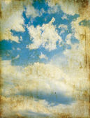 Dramatic sky on a vintage paper — Stockfoto