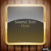 Étiquette carré doré — Vecteur