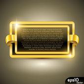 Golden luxury label — Stock Vector