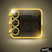 Luxusní zlatý štítek — Stock vektor