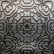 Metal Plate with carved pattern — ストック写真