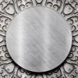 Metal Plate with carved pattern — Stock Photo #35585621