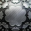 Metal Plate with carved pattern — Foto Stock