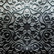 Metal Plate with carved pattern — Lizenzfreies Foto