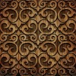 Carved wooden pattern — Stock Photo