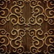 Carved wooden pattern — 图库照片