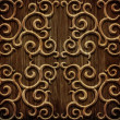 Carved wooden pattern — Foto de Stock