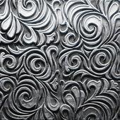 Placa metálica con el patrón tallado — Foto de Stock