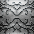 Metal Plate with carved pattern — Stock Photo