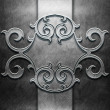 Metal Plate with carved pattern — Stock Photo #35598289