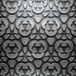Metal Plate with carved pattern — Stock Photo #35598405