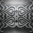 Metal Plate with carved pattern — Stock Photo #35598639