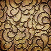 Gold metal pattern on paper backgrond (vintage collection) — Foto de Stock