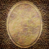 Gold metal pattern on paper backgrond (vintage collection) — Stock fotografie