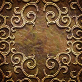 Gold metal pattern on paper backgrond (vintage collection) — Stockfoto