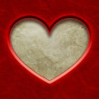 Frame in heart shape from red paper — Stock Photo #40558719