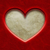 Frame in heart shape from red paper — Stock Photo