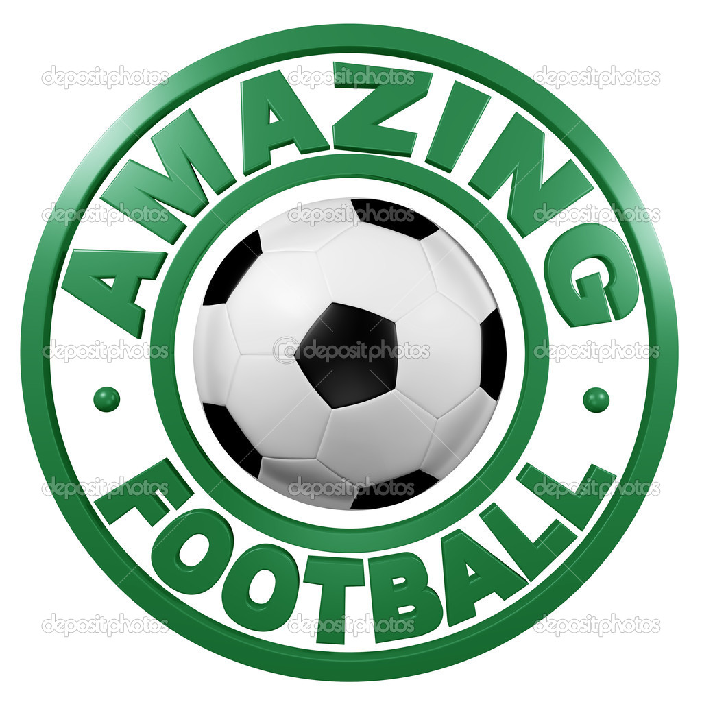 Amazing Football circular design with a white background — Stock Photo #13510490