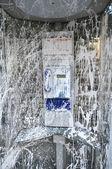 Public Telephone Vandalized with White Paint — Stock Photo