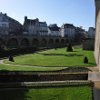 Lawns and Garden along Walls of Vannes City — Stock Photo #22208409