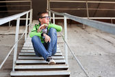 Young man in depression — Stock Photo