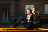 Young girls on the playground — Stock Photo