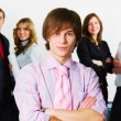 Young businessman team — Stock Photo