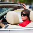 Young mdriving convertible car — Stock Photo #18391475