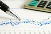 Financial graphs analysis — Stock Photo
