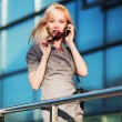 Young businesswoman on the phone — Stock Photo